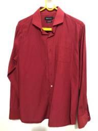 Camisa Social Colômbo Masculina Vermelha Tamanho: M - Nova/ Não Usada