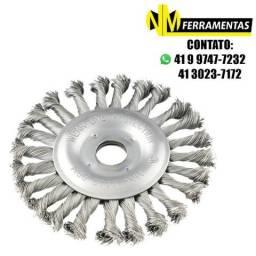 Escova De Aço Circular 6 Pol. X 1/2 X 7/8 Torcida Vonder
