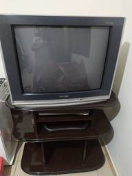 Tv 29 Pol junto com a rack