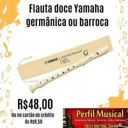 Flauta doce Yamaha germânica e barroca em promoção fazemos entregas