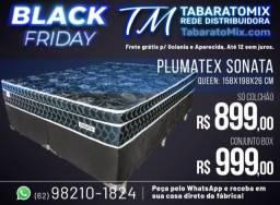 Prorrogação Black Friday! Conj. Casal Sonata Black Queen Size Plumatex