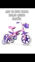 Bicicleta infantil aro 12NOVA