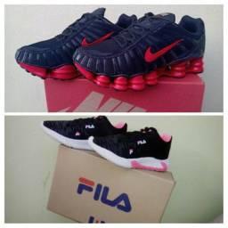 Tênis Nike e fila