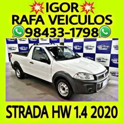 STRADA HARDWORKING 1.4 FLEX 2020 1 MIL DE ENTRADA NA RAFA VEICULOS ujhi