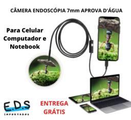Câmera Filmadora Endoscópica Cabo de 2 Metros e Aprova D'Água