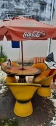Jogo de mesa concreto