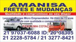 Fretes Mudanças Jacarepaguá/Barra/Recreio/Valqueire/Madureira/Cascadura/Pilares/Abolição