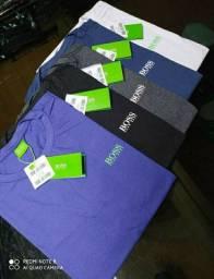 Camisetas masculinas algodão