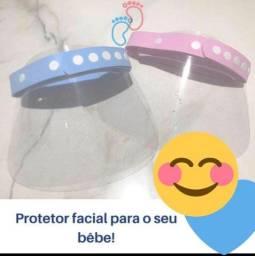 Máscara Bebê Infantil Adulto Face Shield Viseira Protetor Facial