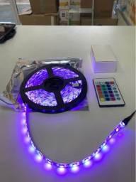 Fita led varias cores completa com controle- entrega gratis
