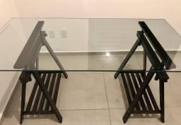 Mesa jantar ou escritorio com cavalete
