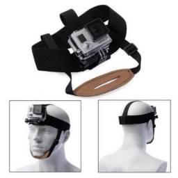 Suporte elástico ajustável cabeça e queixo GoPro e similares - NatalGoPro