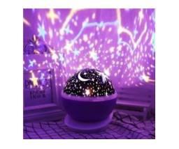 Título do anúncio: Luminaria Abajur Rotativa Projetor Globo Estrela Criança_c335