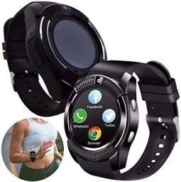 Relógio V8 Smartwatch Funções Celular E Fotos Inteligente