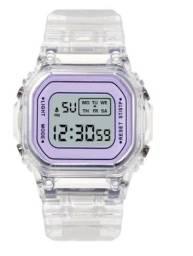 Título do anúncio:  Relógio Feminino Digital Colorido Blogueira Hype Tendência