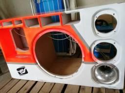 caixa de som automotivo semi nova com iluminação apenas RS 190 reais