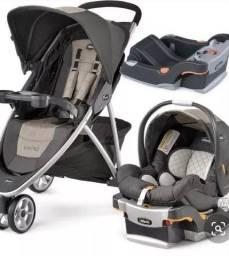 Título do anúncio: Carrinho de Bebê Chicco Viaro + Bebê conforto