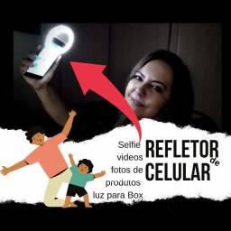 E que se faça a luz Clipe Anel Luz Selfie Ring Light Flash Celular Universal 617