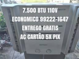 Título do anúncio: Ar Condicionado 7.500 Btu 110V Classe A Ac Cartão 5x Pix C Garantia