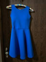 Vendo vestido azul de festa