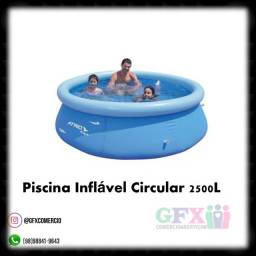 Piscina inflável circular 2500 litros - por 380$