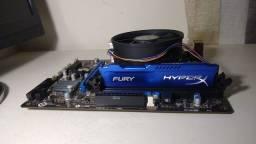 Título do anúncio: Kit PC I3 4160, DDR3 HyperX Fury 8GB, H81M-E33 OC.