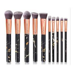 Título do anúncio: Kit Pincel Maquiagem Kabuki Marmorizado 10 Peças