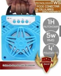 Caixa de Som AL-302 Portátil Bluetooth MP3 Player / Cartão SD / TF / Usb