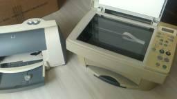 2 Impressoras 1 multifuncional Lexmark x83 e uma HP 656c sem fontes