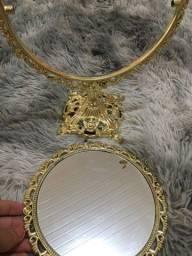 Espelho mesa dourado