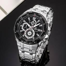 Relógio masculino prova dágua edifíce100% funciona