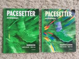 2x Livros Ensino Inglês Pacesetter Intermediate Student's Book + Workbook Editora Oxford