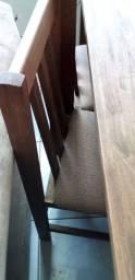 Mesa madeira maciça + 6 cadeiras