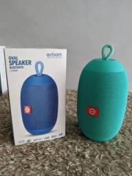 Caixa de Som Oval Speaker Bluetooth Exbom