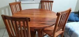 Mesa 4 cadeiras Madeira