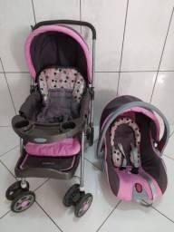 Carrinho de bebê e bebê conforto cosco  (Rosa)