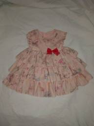 Vestido infantil 0 à 6 meses