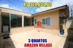 Linda Casa Terrea no Amazon Village 3 qts Modulados e Climatizado