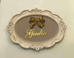 quadro porta maternidade nome giulia