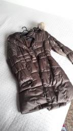 Casaco jaqueta marrom tamanho M