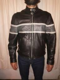 Título do anúncio: Jaqueta em couro legítimo p/ motoqueiro