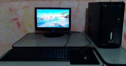 Título do anúncio:    Pc Completo, Core 2 Duo, 4Gb Ram, Hd 320GB, Monitor 16