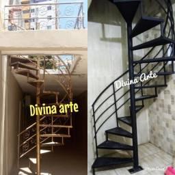 Escadas caracol GALVANIZADAS PARA INSTALAÇÃO IMEDIATA a partir de 1.500.00