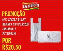 Sacola Branca n.03 30x40x0,017 Plaszom GDM Pct. com 1000und por R$ 20,50