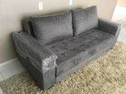 Sofa 3 lugares suede