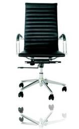 Kit Cadeira de Escritório com Rodado + 02 cadeira sem Rodado