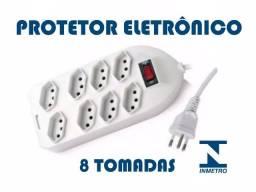 Filtro De Linha Protetor eletronico Com 8 Tomadas
