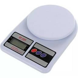 Balança Digital SF-400 Alta Precisão Eletrônica 1g a 10 kg + Faqueiro RichWell Smart 24 Pe