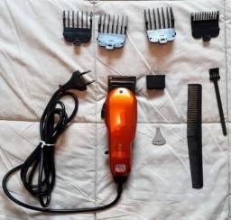 Máquina de cortar cabelo elétrica (Kemei) profissional - bivolt