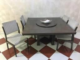 Mesa 6 cadeiras com prato giratório